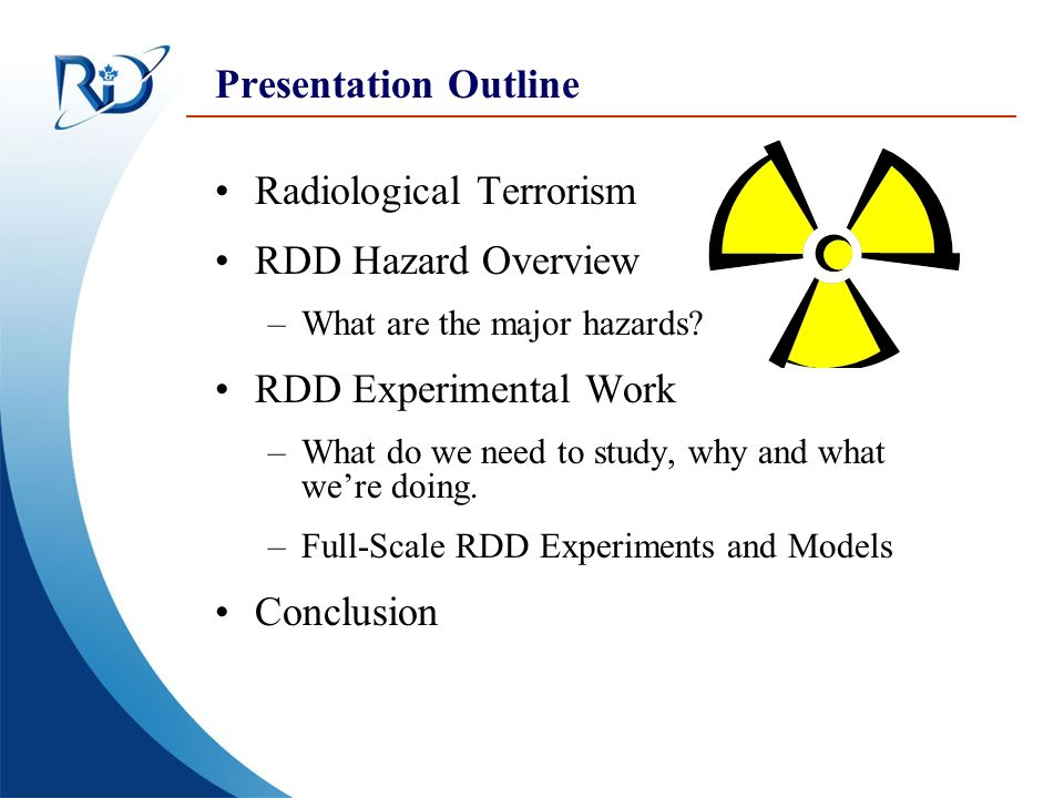 Defence Research and Development Canada Recherche et développement pour la défense Canada Canada Introduction: Radiological Terrorism