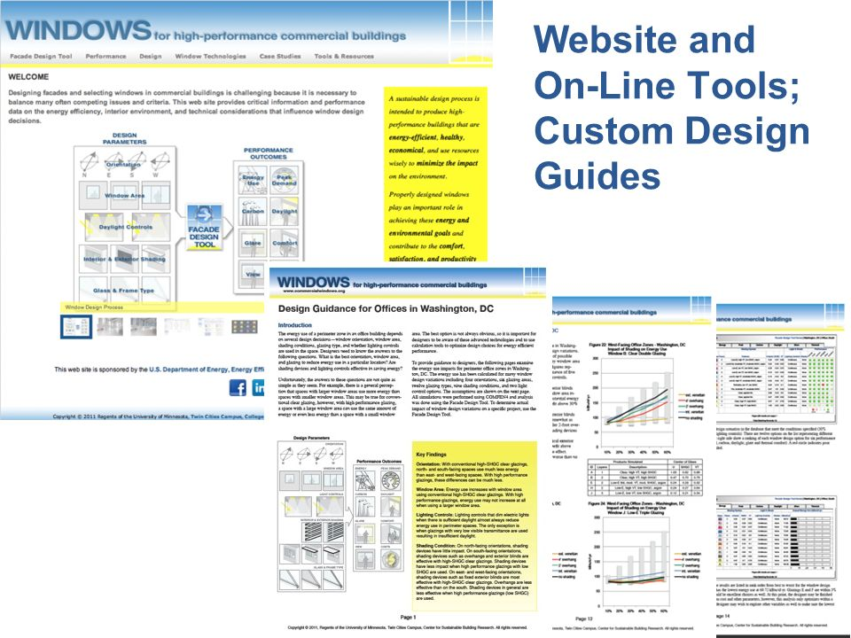 LBNL 2/16/2012 Website and On-Line Tools; Custom Design Guides