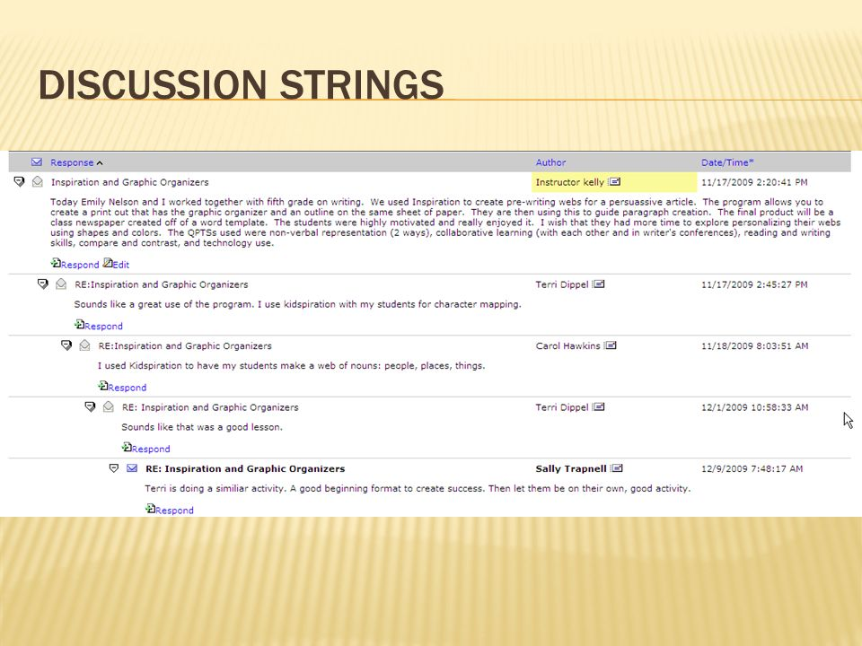 DISCUSSION STRINGS