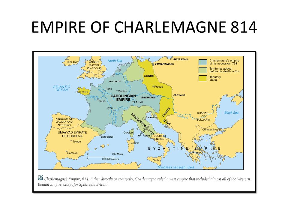 EMPIRE OF CHARLEMAGNE 814