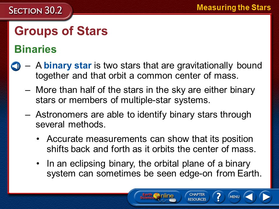 Groups of Stars Star Clusters Measuring the Stars –Although stars may appear to be close to each other, very few are gravitationally bound to one othe