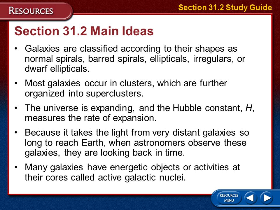 Section 31.1 Main Ideas Because our solar system is inside the Milky Way galaxy, it was difficult at first for astronomers to determine the size and s