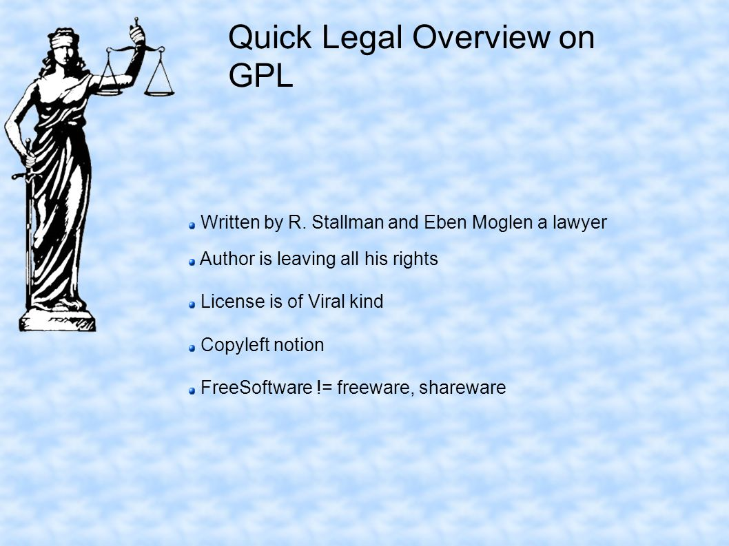 Quick Legal Overview on GPL Written by R.