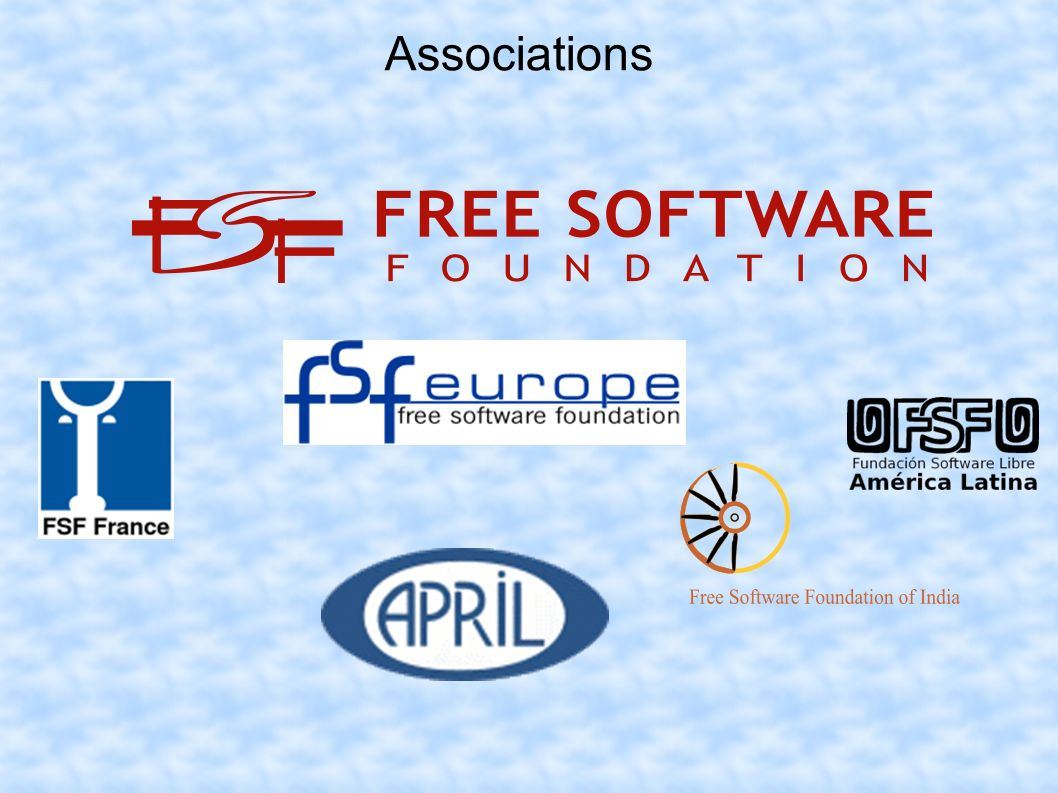 Speech of Free – Against Open code = easier to find security holes Bothering GPL License ( free must stay free) Softwares creators are not paid for their work New concepts are not protected Training courses cost What about support .