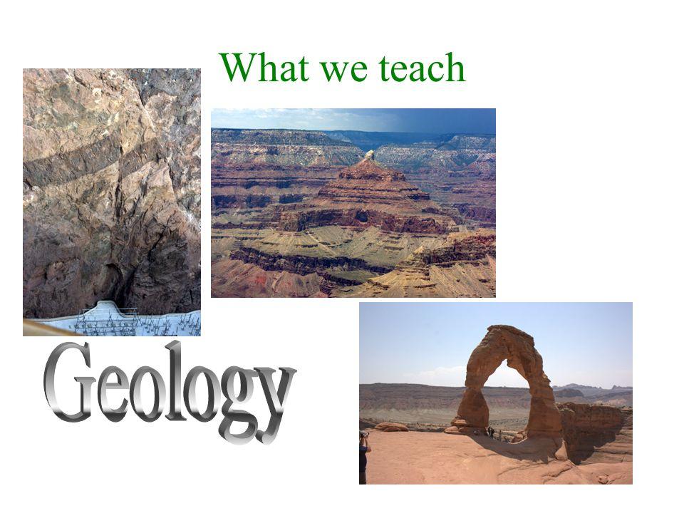 What we teach