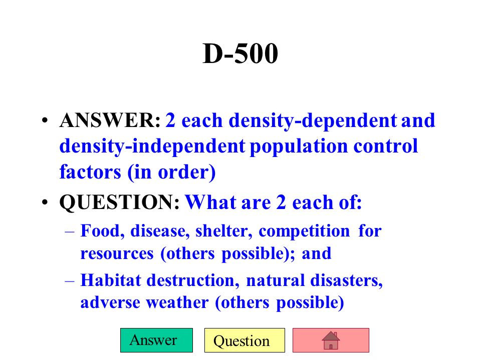 Question Answer D-400 ANSWER: the 10% rule QUESTION: What rule/principle states that for every successively higher trophic level in a food chain/web,