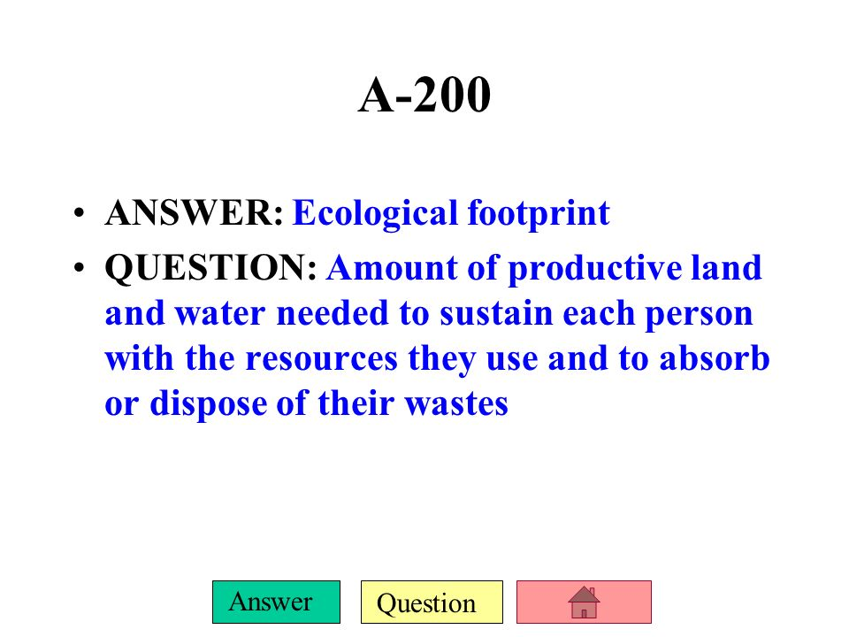 Question Answer A-100 DAILY DOUBLE.