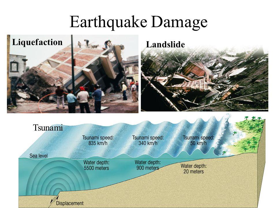 Landslide Earthquake Damage Liquefaction Tsunami