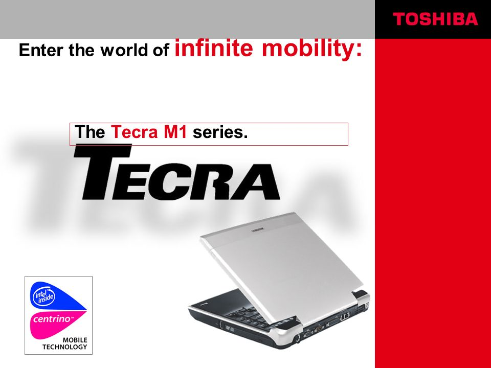 Computer Systems Division, Toshiba Europe Tecra M1 Sales Presentation | March 2003 | | page 12 | Trident XP4 - benefits for end-users Highest DX8.1 performance notebooks Superior video + graphics solution Lowest power + coolest notebooks Thin & Light for superior portability Extensive application SW support