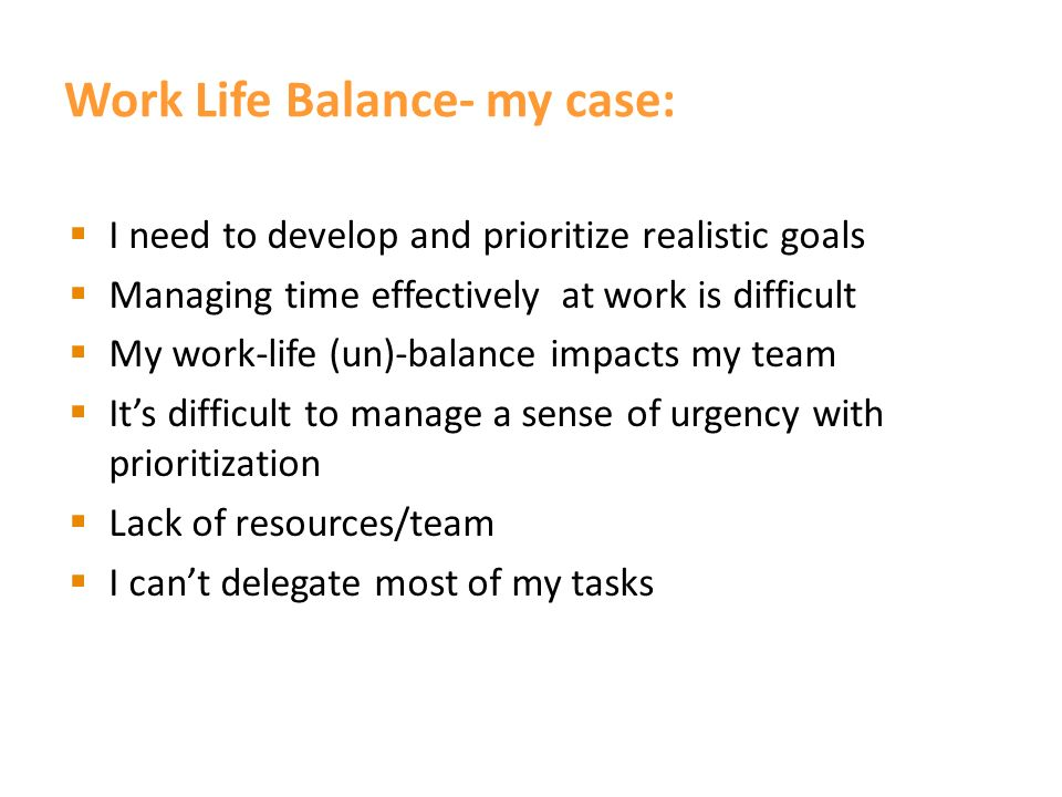 What is Work Life Balance.