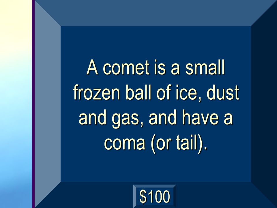 What is a comet? next