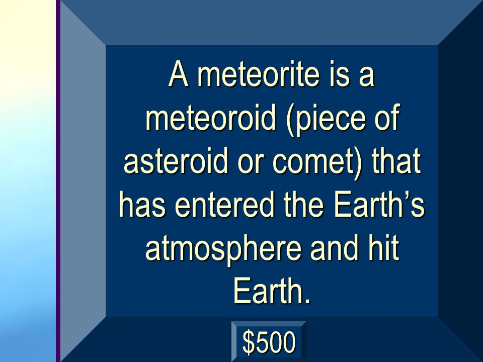 Whats the difference between a meteoroid and a meteorite? next