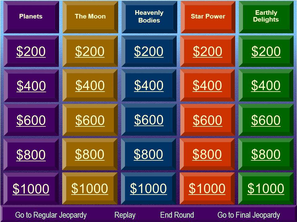 Sky Science JEOPARDY JEOPARDY Double Jeopardy