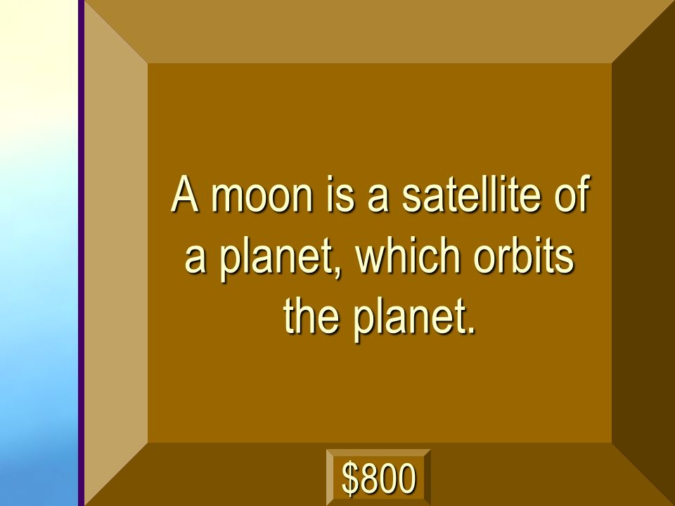 What is a moon? next