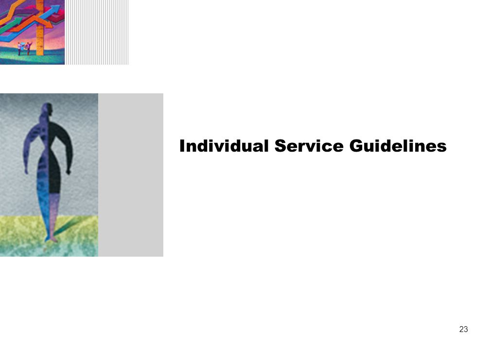 23 Individual Service Guidelines