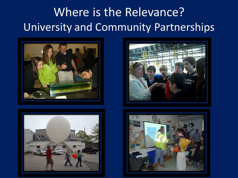 Where is the Relevance? University and Community Partnerships