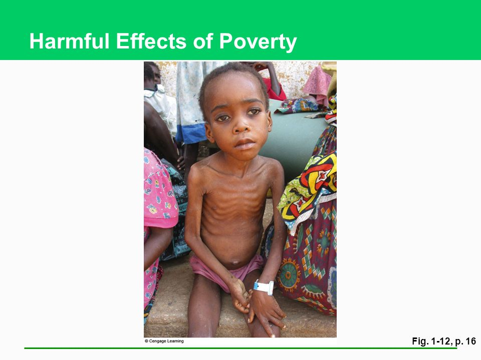 Harmful Effects of Poverty Fig. 1-12, p. 16