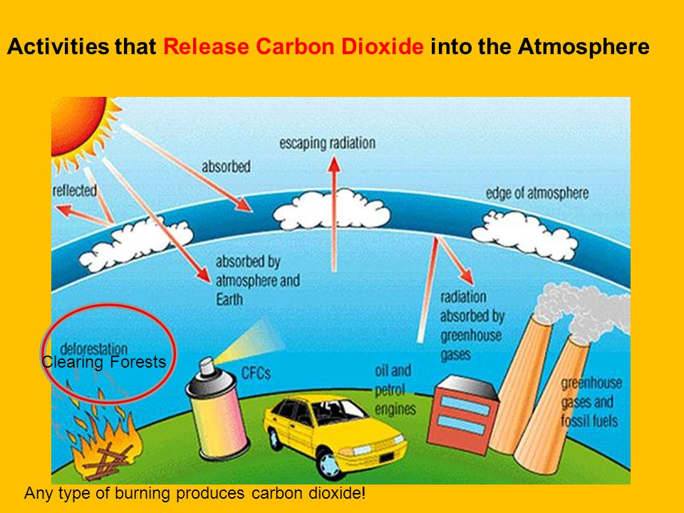 Putting more gases like carbon dioxide CO2, methane CH4, water vapor H2O, and pollutants in the air can absorb more and more infrared waves and make i