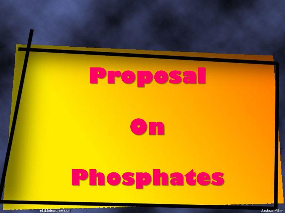 ProposalOnPhosphates