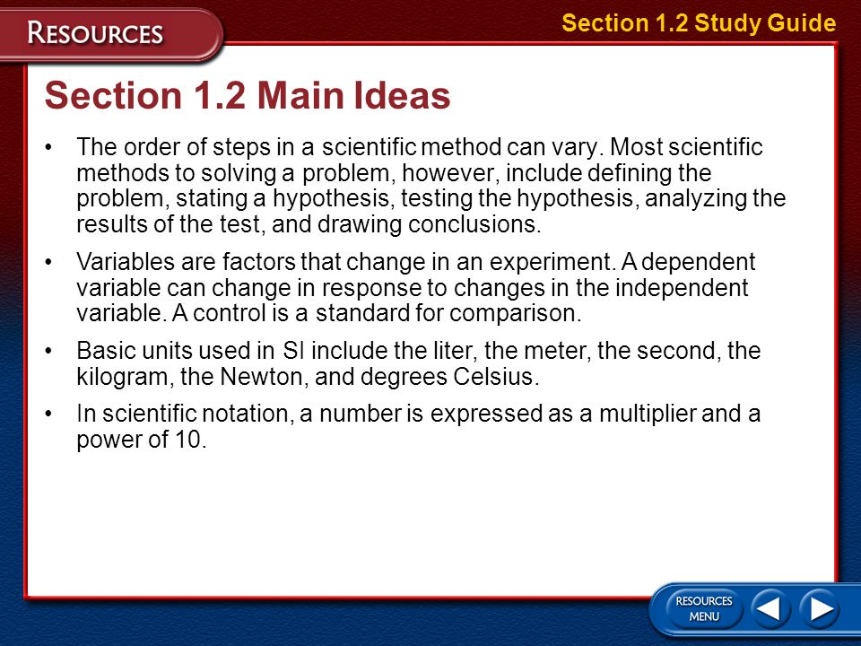 Section 1.1 Main Ideas There are four major areas in Earth science.