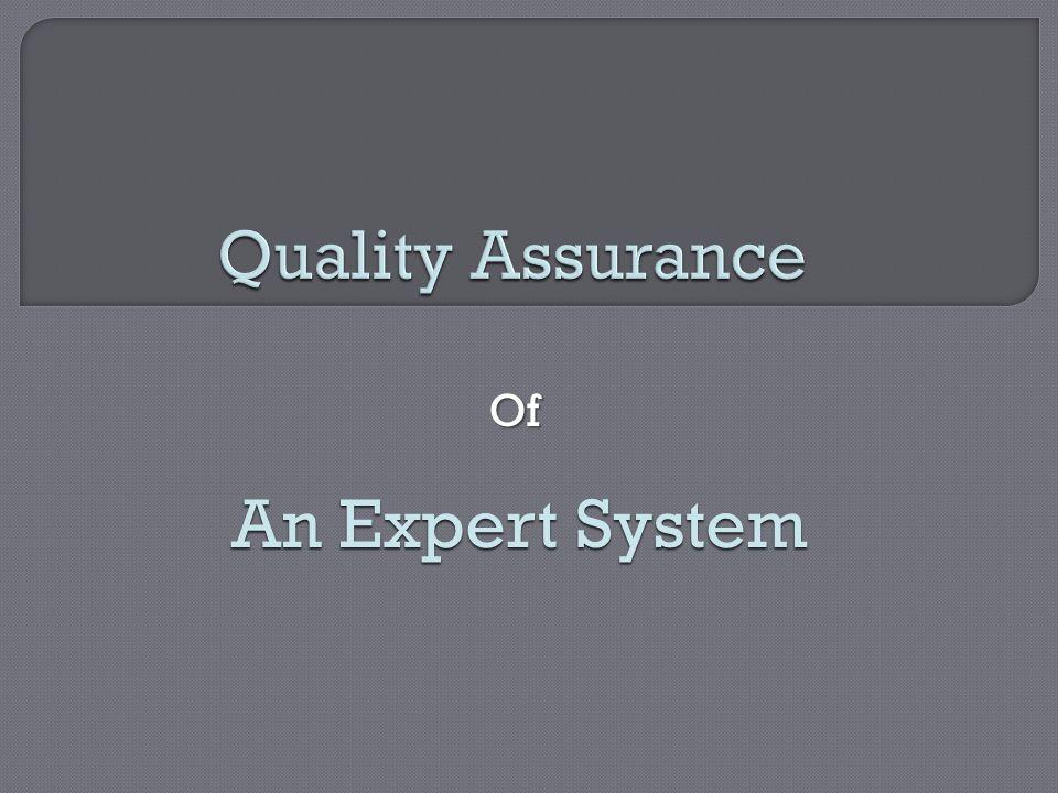 Of An Expert System