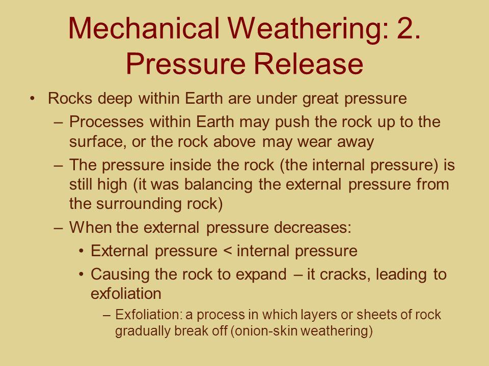 Mechanical Weathering: 3.