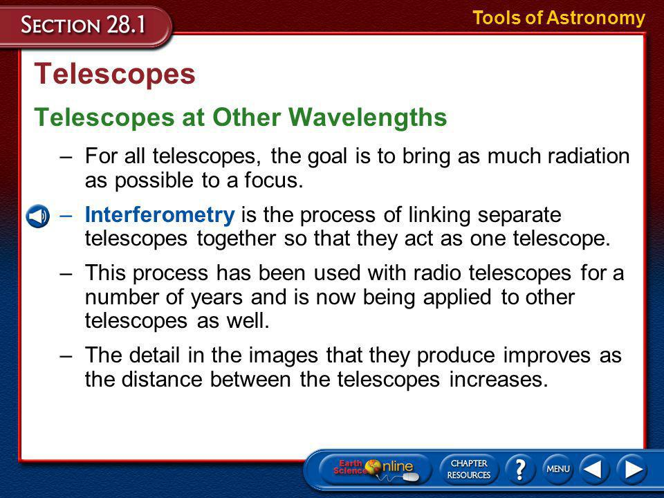 Telescopes Refracting and Reflecting Telescopes Tools of Astronomy
