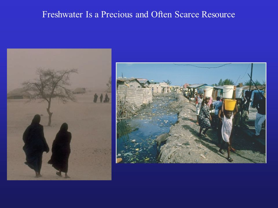 Freshwater Is a Precious and Often Scarce Resource