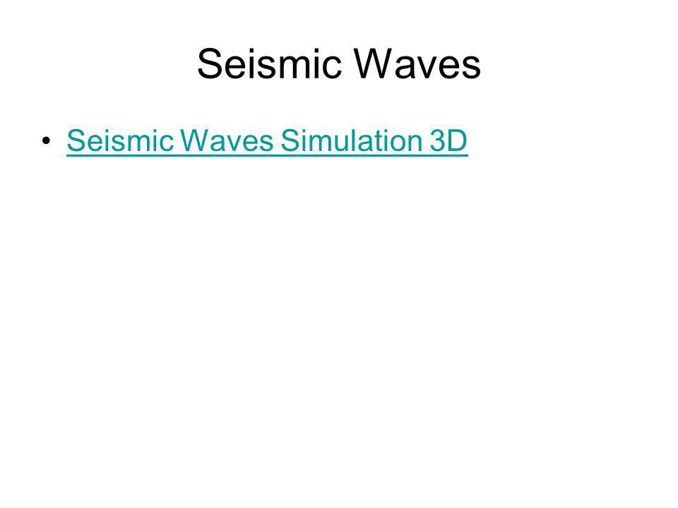 Seismic Waves Seismic Waves Simulation 3D