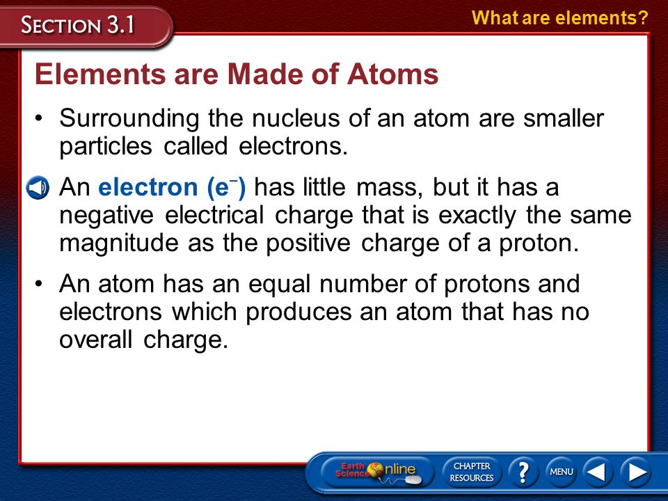 Elements are Made of Atoms What are elements?