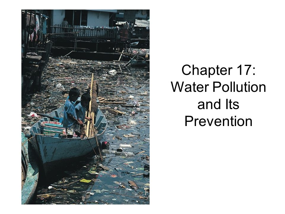 Chapter 17: Water Pollution and Its Prevention