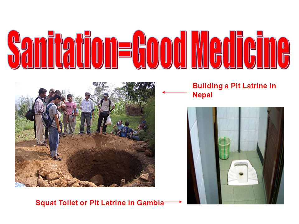 Building a Pit Latrine in Nepal Squat Toilet or Pit Latrine in Gambia
