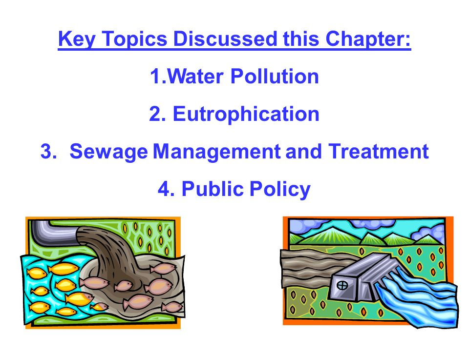Key Topics Discussed this Chapter: 1.Water Pollution 2. Eutrophication 3. Sewage Management and Treatment 4. Public Policy