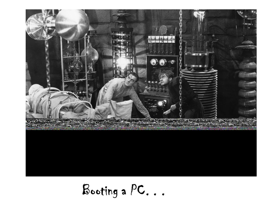 Booting a PC...
