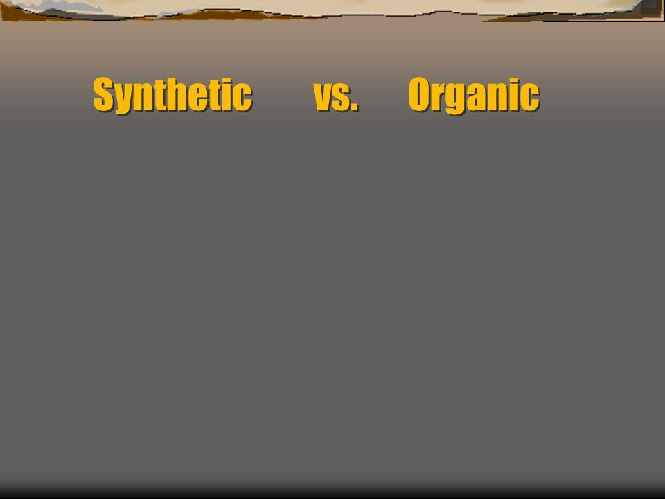 Synthetic vs. Organic