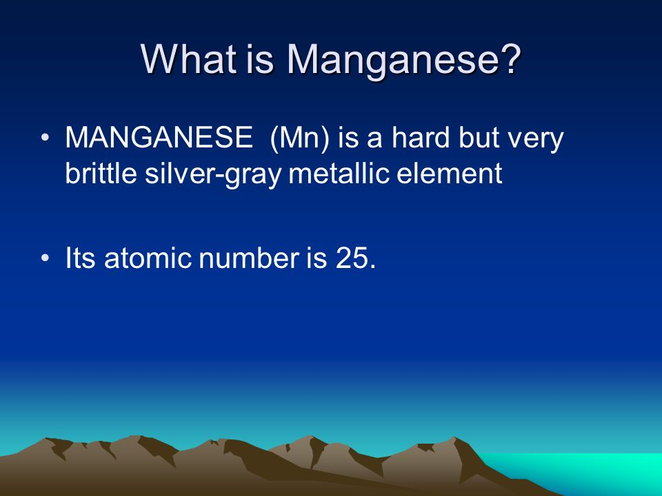 Other sources of manganese Some manganese is recovered through the reprocessing of scrap metals and steel slag, or the materials left over from the steel-making process