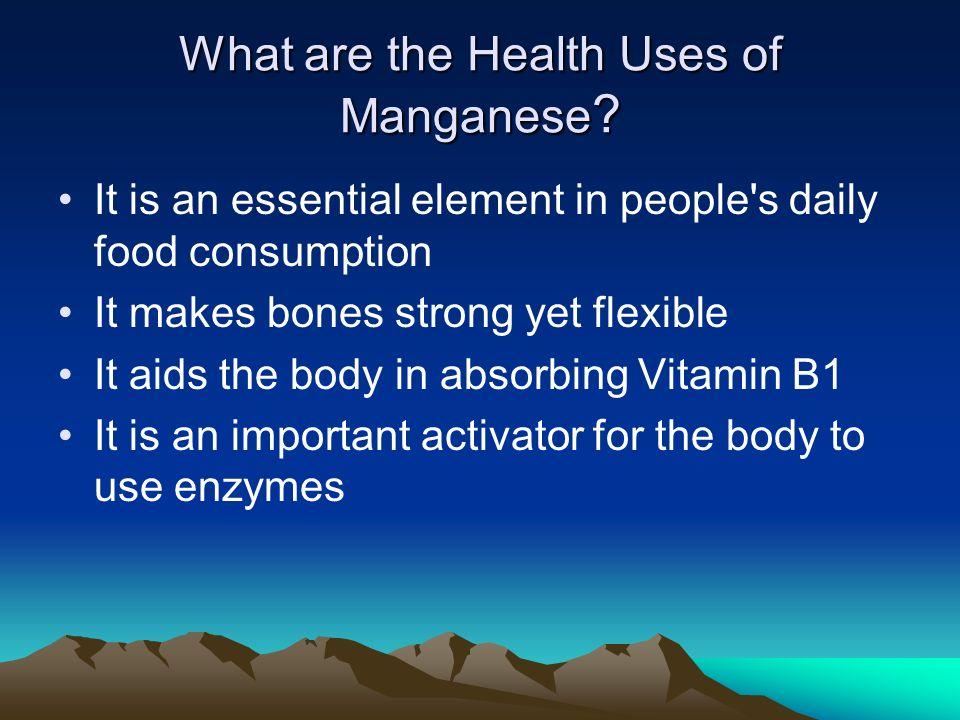 How is Manganese used in Industry.