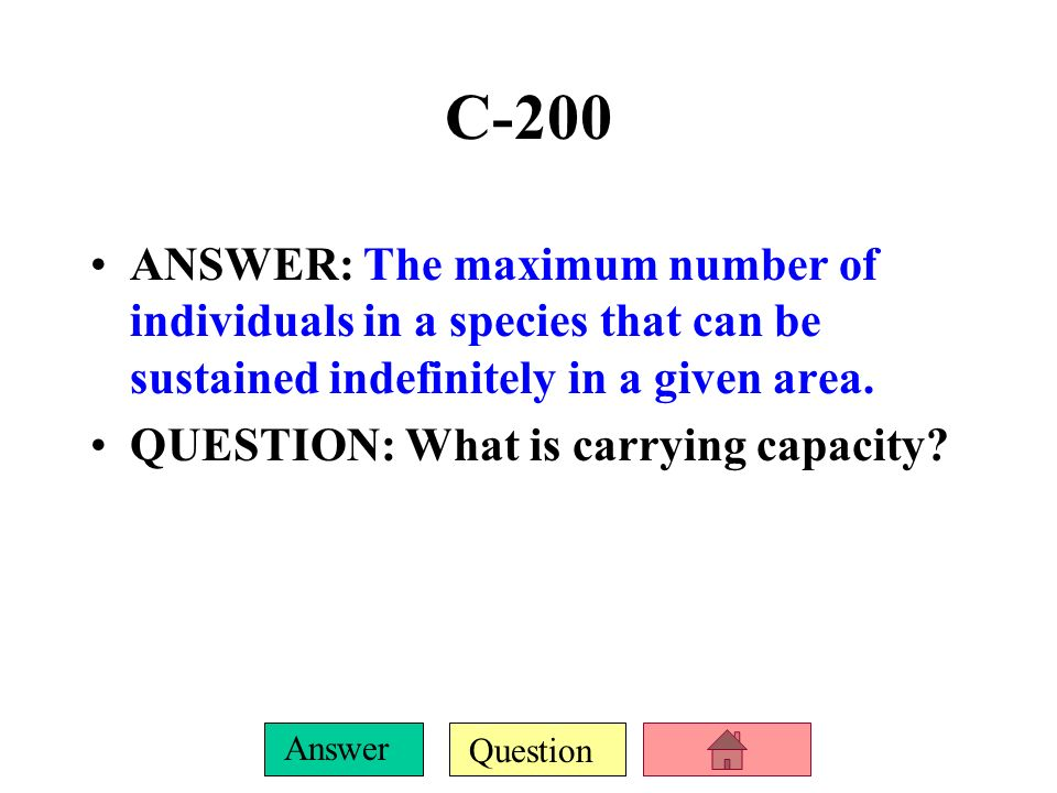 Question Answer C-100 ANSWER: The Rule of 70 QUESTION: What is the following formula: Doubling time =_____70______ % growth rate