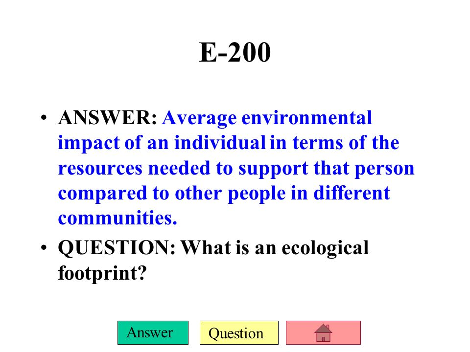 Question Answer E-100 ANSWER: One of the most extensive set of environmental regulations, it protects both endangered/threatened species and their hab