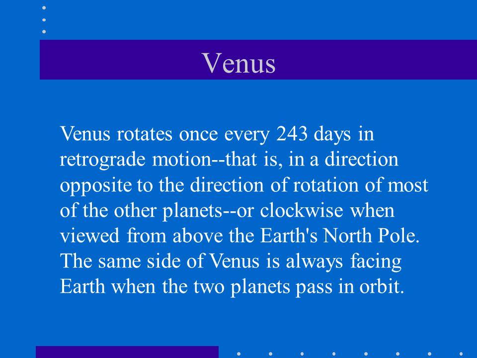 Views of Venus Venus Covered by Clouds A Phase of Venus