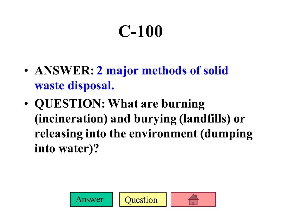 Question Answer B-500 ANSWER: 4 environmental impacts of agriculture.