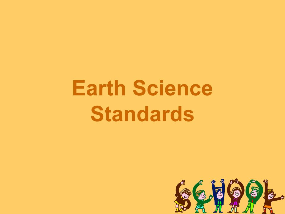 Earth Science Standards