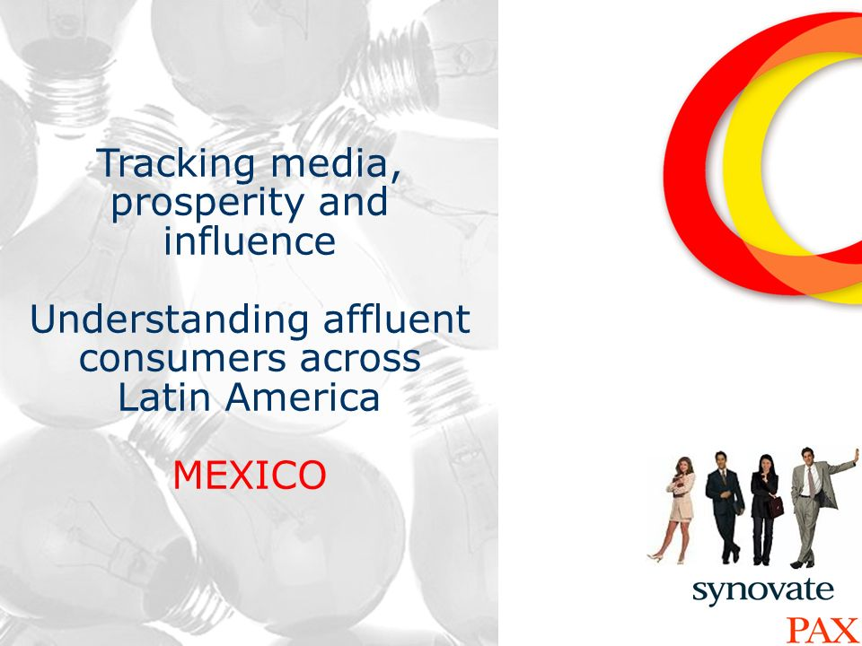 13 Tracking media, prosperity and influence Understanding affluent consumers across Latin America MEXICO