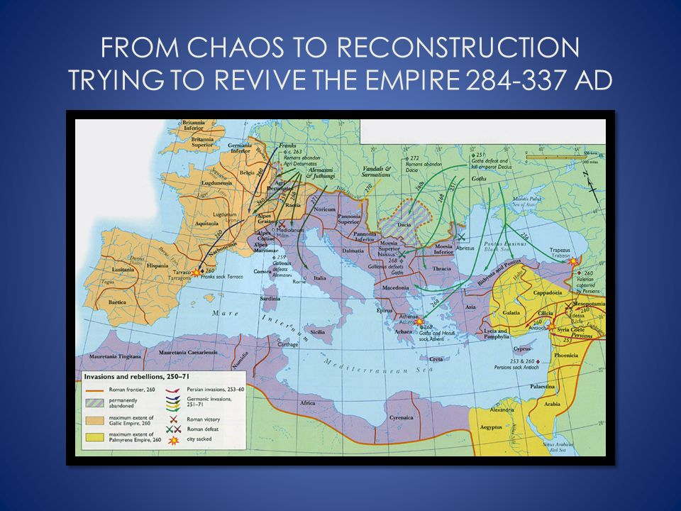 FROM CHAOS TO RECONSTRUCTION TRYING TO REVIVE THE EMPIRE 284-337 AD