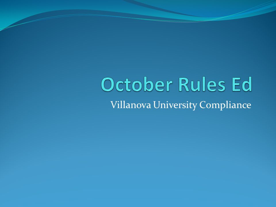 Villanova University Compliance