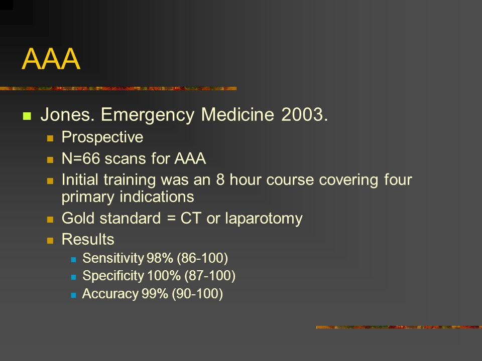 AAA Jones. Emergency Medicine