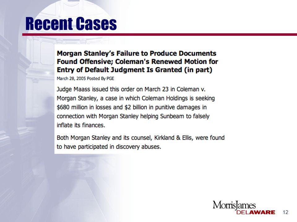 12 Recent Cases