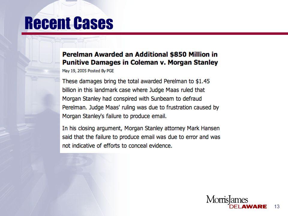 13 Recent Cases