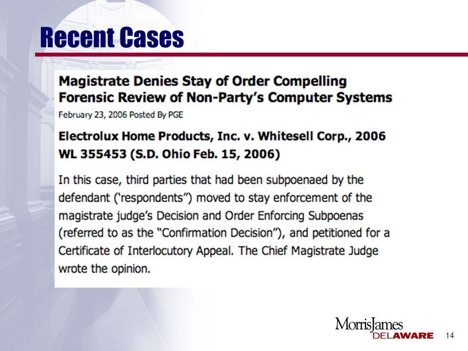 14 Recent Cases