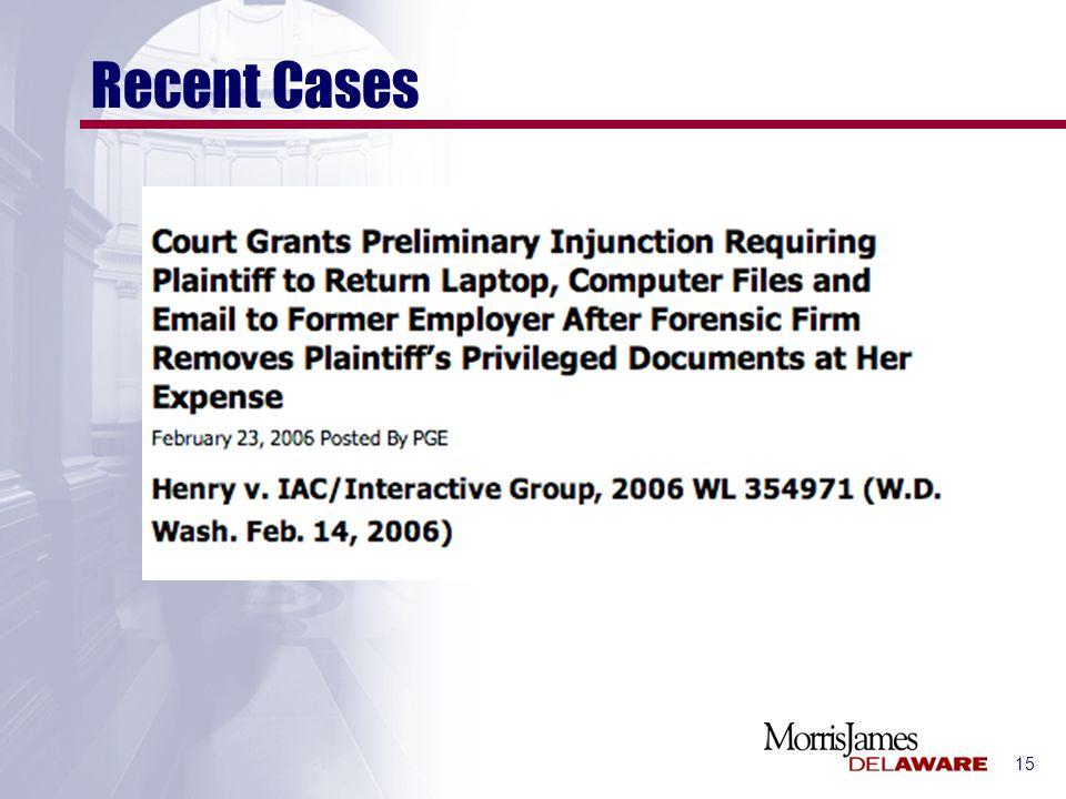 15 Recent Cases